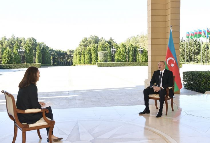 Azerbaijani President was interviewed by France 24 TV channel